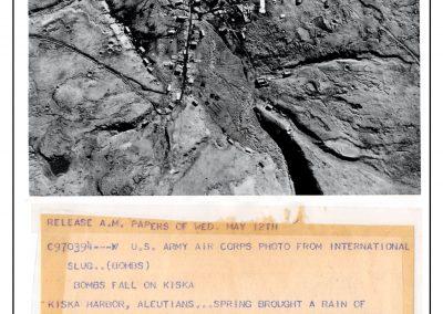 Island of Attu and Bombs