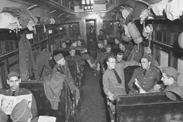 Soldiers on the Train