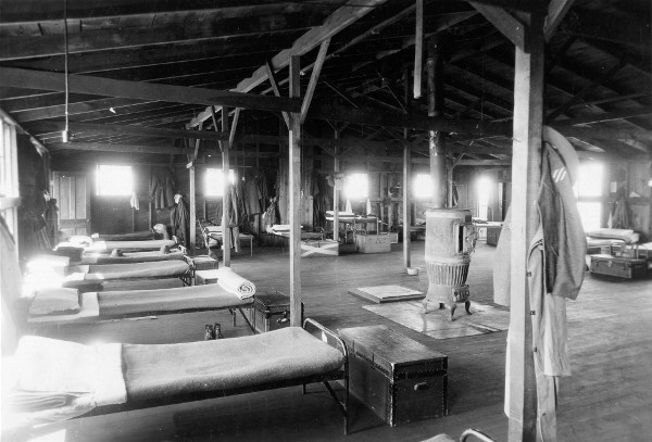 Interior of barracks