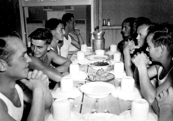 POWs in their mess hall