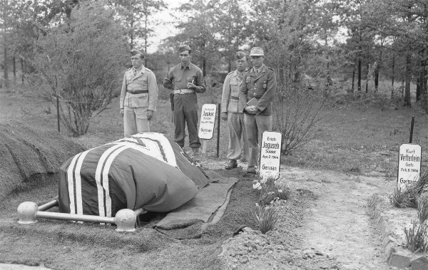 German POW burial