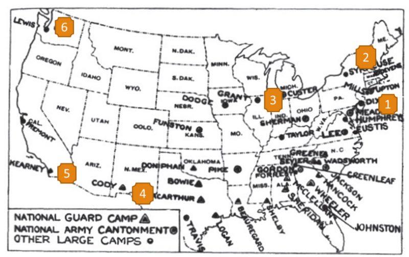 national guard camp map